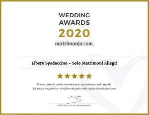 Libero Spadaccino Wedding Awards Matrimonio com 2020